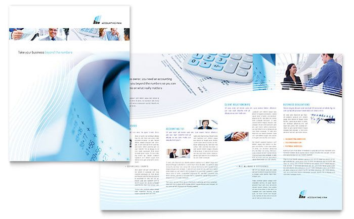 Computer Services And Consulting Brochure Template Design By
