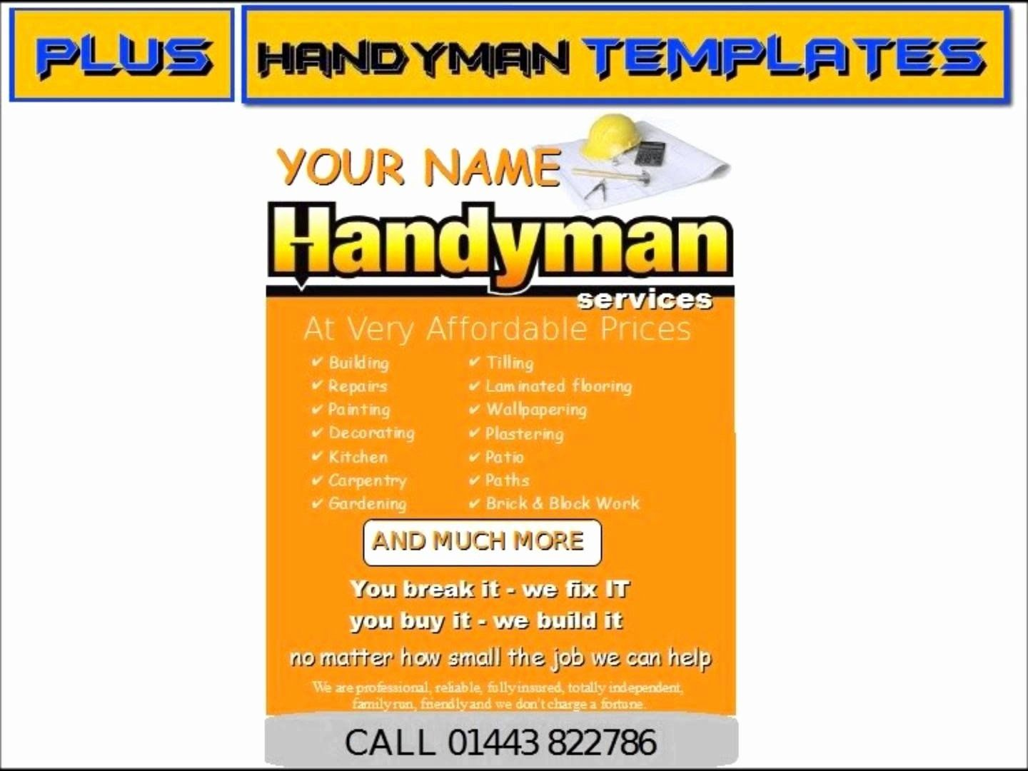 Free Handyman Flyer Templates Awesome Handyman Business Cards Samples Handyman Business Free Business Card Templates Business Card Template Card Templates Free