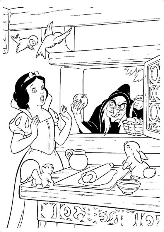 Snow White Was Given Apples Coloring Pages | Coloring! | Pinterest ...