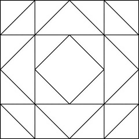 Page Quilt Coloring Sheets Log Cabin Or Barn Raising Quilt