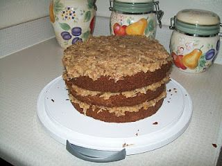 Blissful and Domestic: German Chocolate Cake