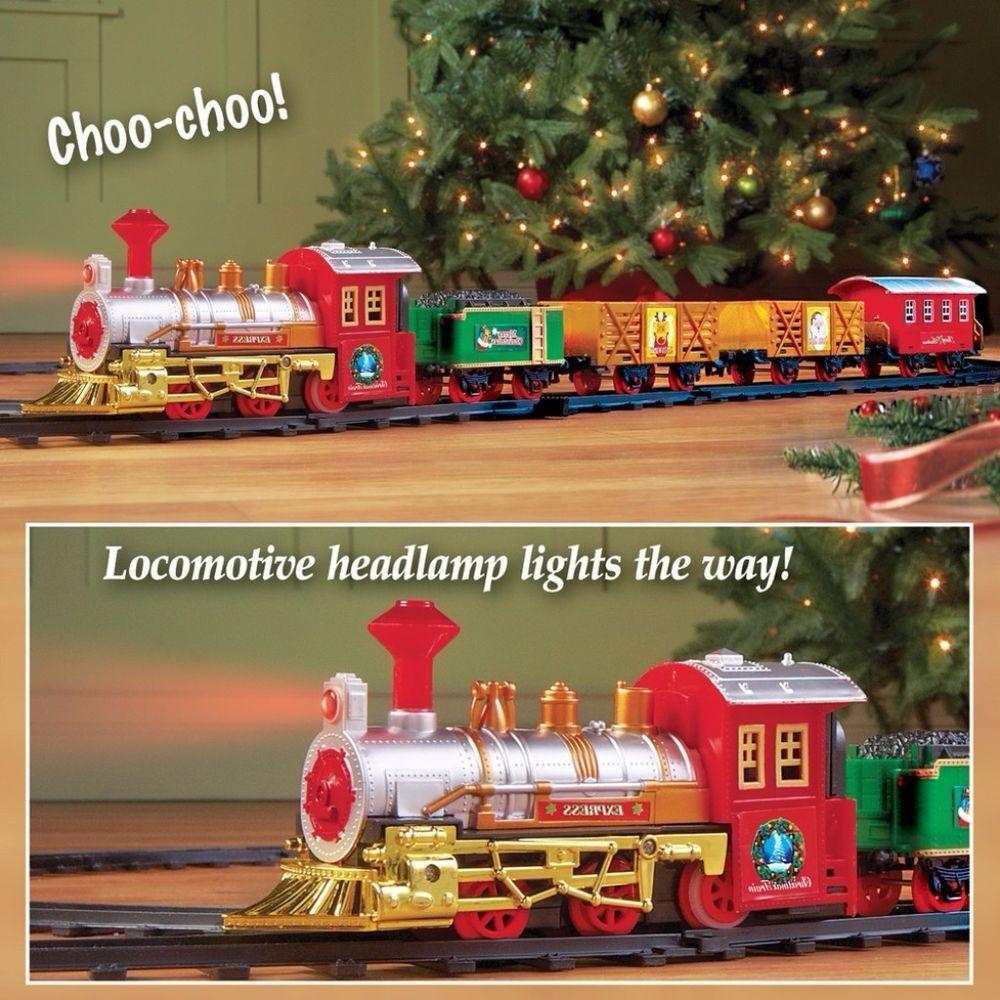 lighted classic whimsical train set wrap around christmas tree holiday decor - Lighted Train Christmas Decoration