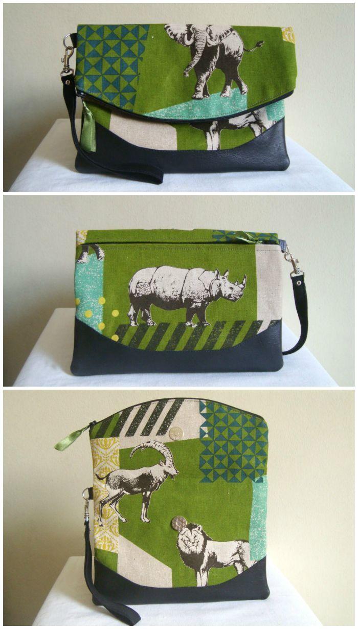 Heidi Foldover Clutch & Wristlet | Jeanstasche nähen, Taschen nähen ...