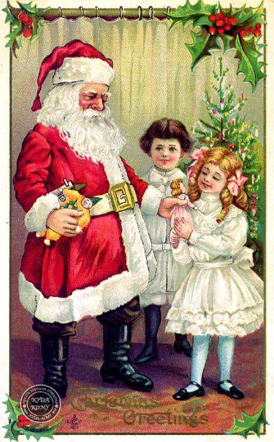 старинные новогодние открытки. фото