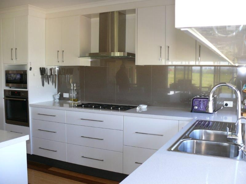 White Kitchen Grey Splashback vistelle kitchen splashback | kitchen | pinterest | kitchens