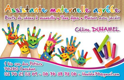 Une Carte De Visite Pour Assistante Maternelle Agreee