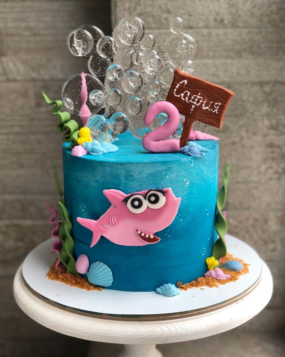 15 Adorable Baby Shark Birthday Cake Ideas (They're So