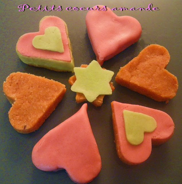 Coeurs biscuits amande sans cuisson