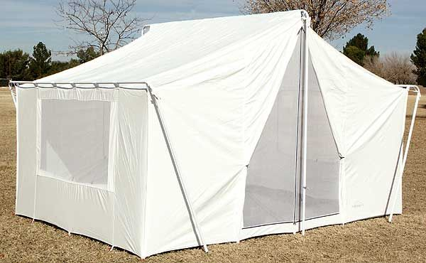 White Canvas Tent 10u0027x14u0027 | Vinyl Floor |All-Weather Canvas Wall : screened in tents with floors - memphite.com