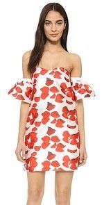 re:named Red Petals Off Shoulder Dress   SHOPBOP