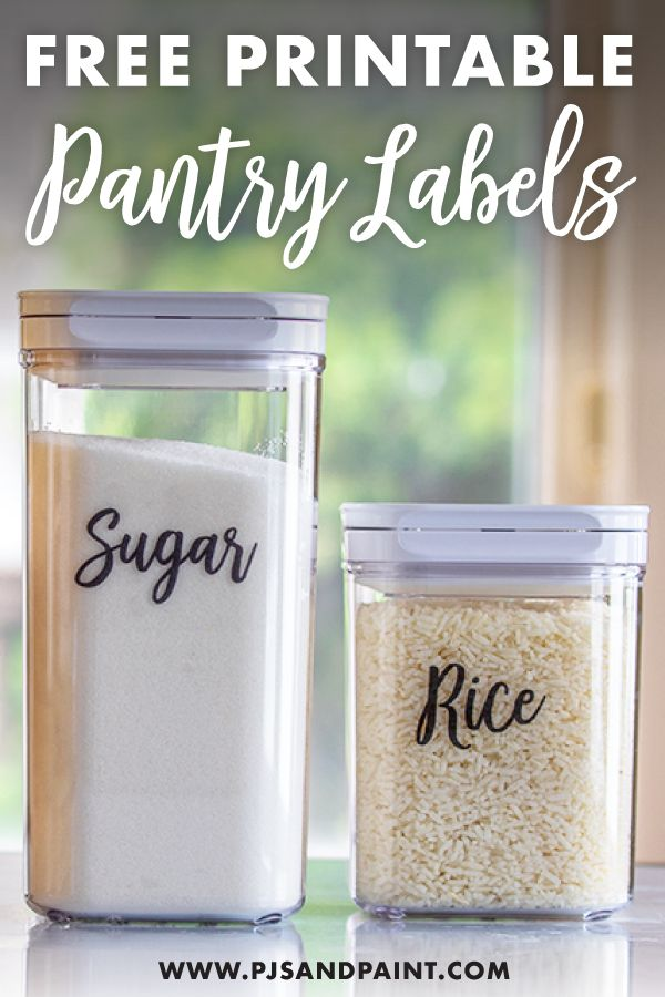 Free Printable Pantry Labels | Labels for Food Storage Containers