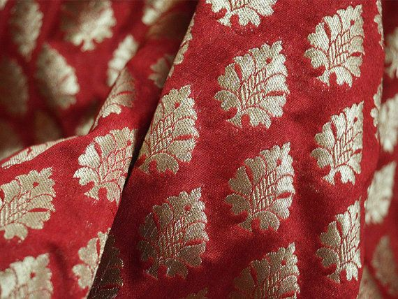 Paisley Fabric Maroon Blue Red Fabrics Crafting Dress Making Material Satin Mix