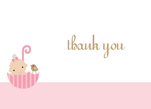 Cute Free Printable Baby Shower Thank You Cards  Card