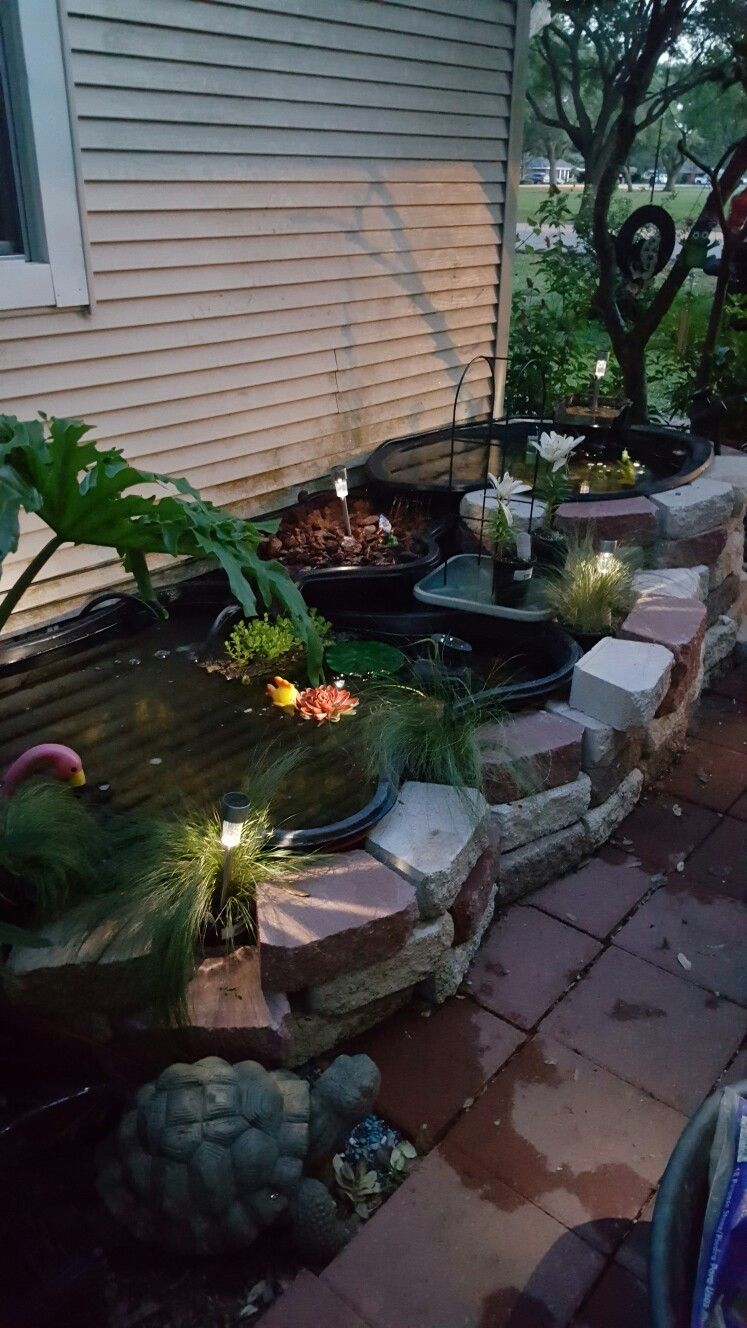 Simple outdoor koi pond with filtration system fairy for Koi pond yard