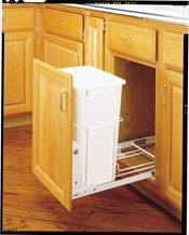 23.25 by 15.38 by 22.44-Inch Knape /& Vogt USC18-2-50WH In-Cabinet Pull Out Soft Close Trash Cans