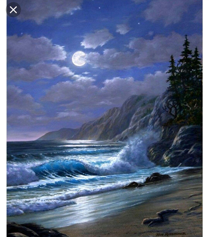 Pin By Doug Scott On Pinturas Ocean Painting Seascape Paintings Landscape Paintings