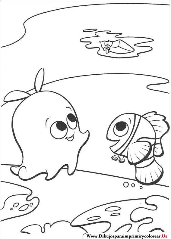 Dibujos De Buscando A Nemo Para Imprimir Y Colorear With Images