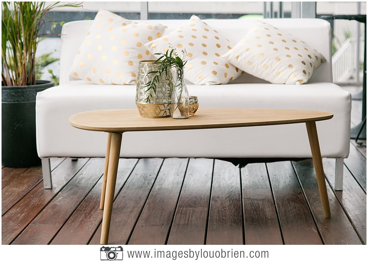 White Modern Lounge With Wooden Coffee Table Furniture