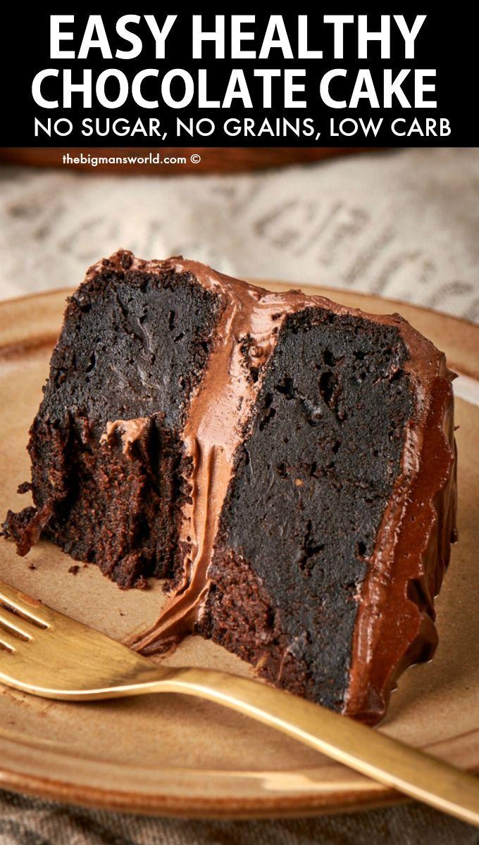 Zucchini Chocolate Cake Keto And Vegan The Big Man S World Recipe Healthy Chocolate Recipes Healthy Chocolate Cake Healthy Chocolate