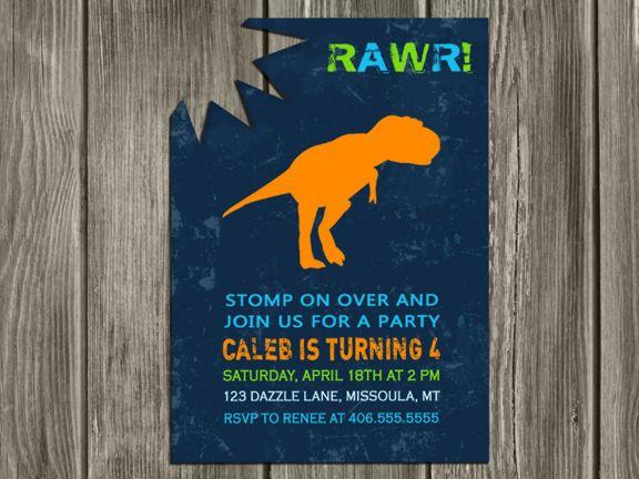 dinosaur birthday invitation - dinosaur invitation - dinosaur, Birthday invitations