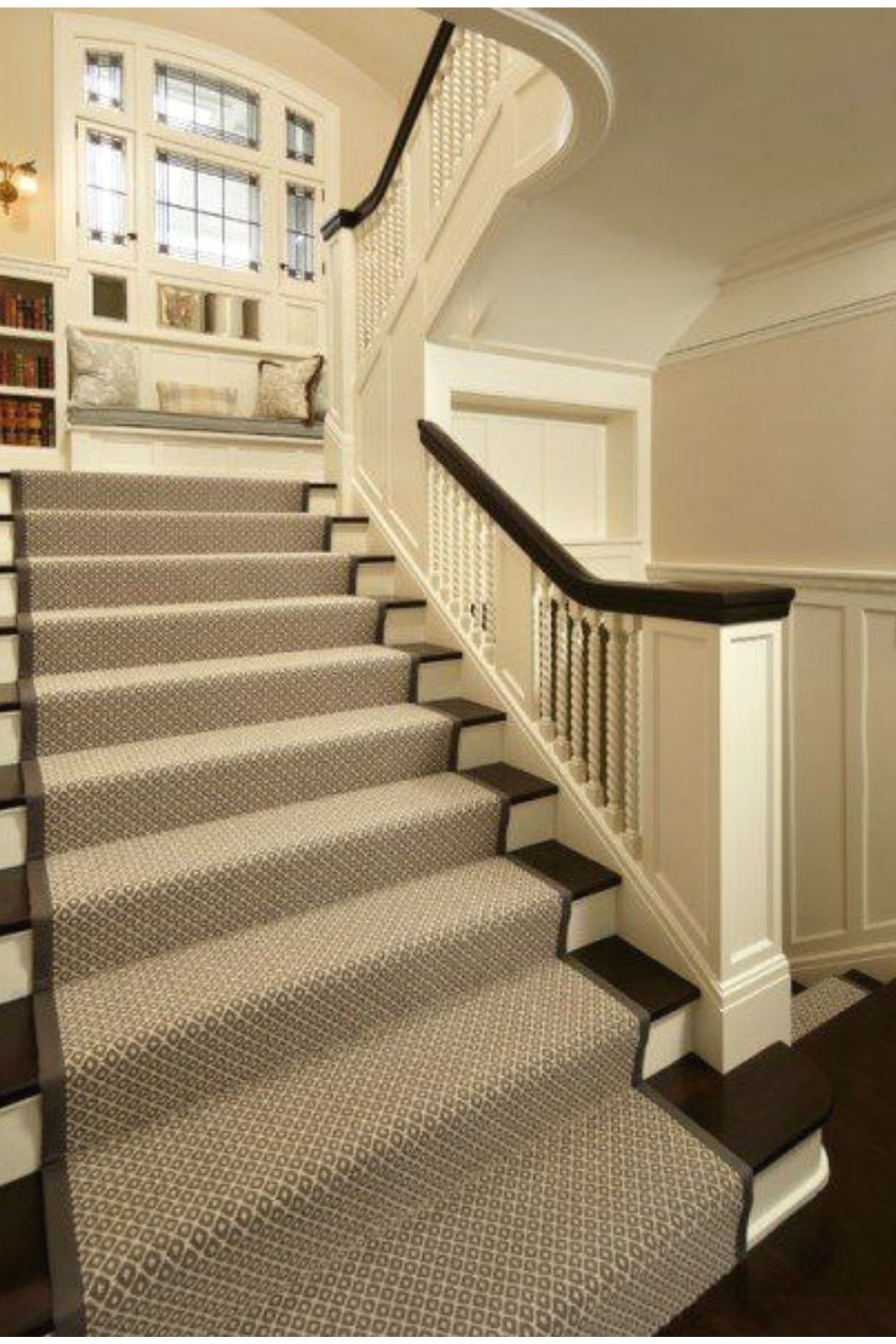 Best Attractive Straight Stairs Design For Home Carpet Stairs 400 x 300