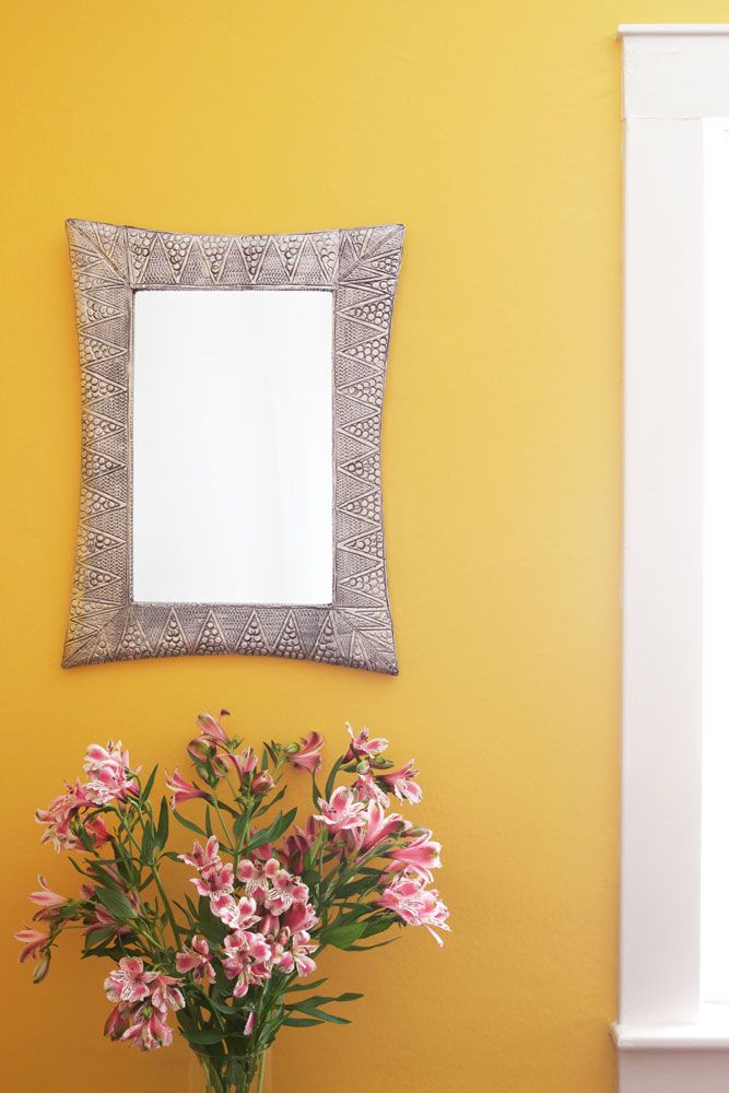 Lustrous Embossed Metal Wall Mirror from Kenya | Kenya, Metal walls ...
