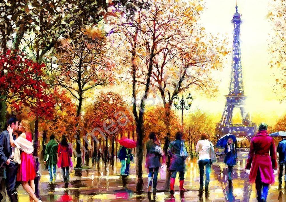 Краски осеннего Парижа, картины раскраски по номерам ...