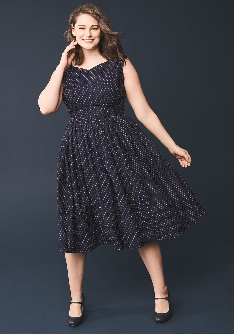 Fabulous fit and flare dress with pockets in 2021 navy