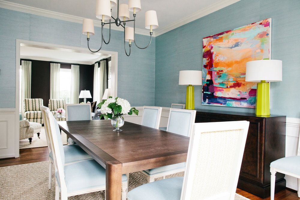 Maryland Family Home Dining Room Design Interior Bedroom
