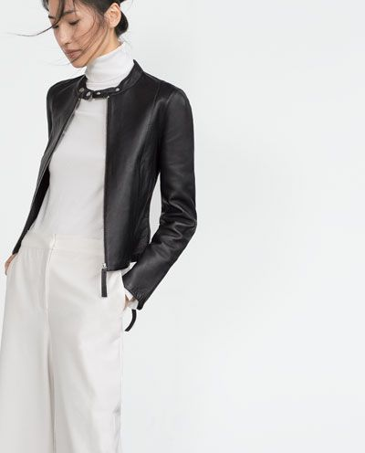 Image 1 of LEATHER JACKET from Zara