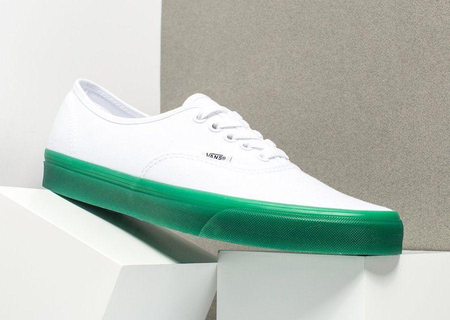 5bc04adbdcf82c Vans Authentic Green Sole