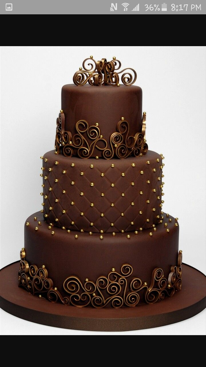 Magnificent The Most Beautiful Chocolate Cake Chocolate Wedding Cake Cake Funny Birthday Cards Online Fluifree Goldxyz
