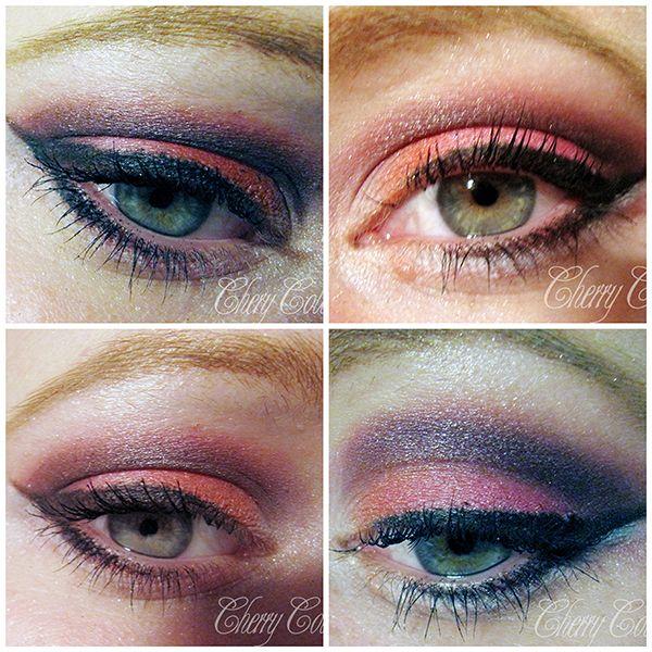 Cherry Colors - Cosmetics Heaven!: Peach Pink smokey eye