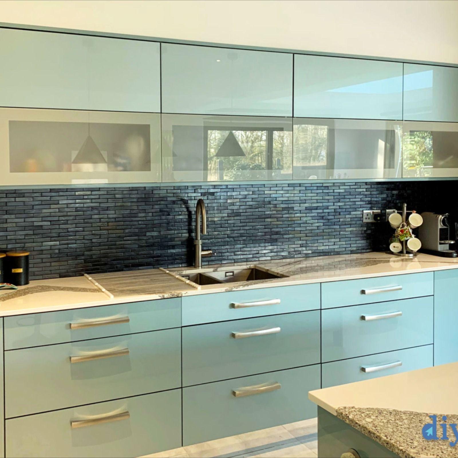 An Innova Altino Petrol Blue High Gloss Kitchen in 2020