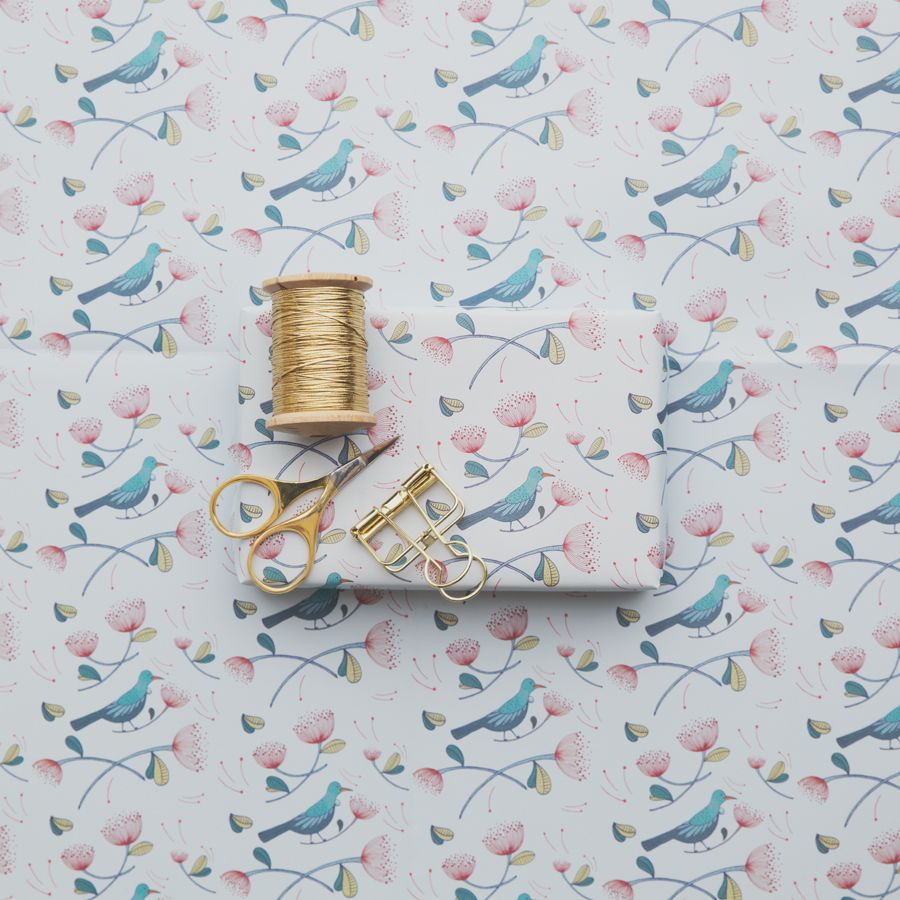 Our Tui wrapping paper from the Great NZ Wrapping Paper book!