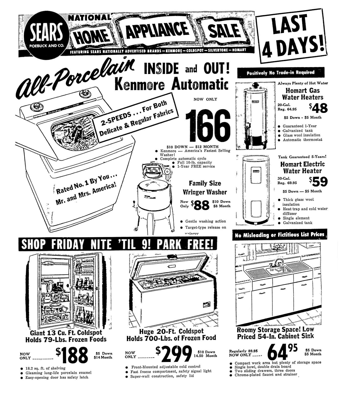 Sears August 1958 With Images Sears Sears Appliances Home