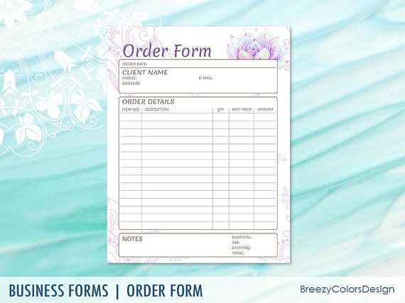 Floral Order Form Template Beautiful Quotation Paper Ordering