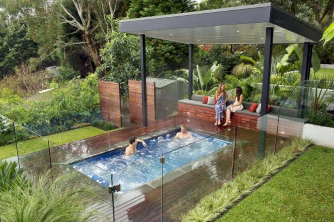 Top 25 Plunge Pool Design Ideas For Your Backyard Inspiration Freshouz Com Hot Tub Backyard Swim Spa Landscaping Hot Tub Landscaping