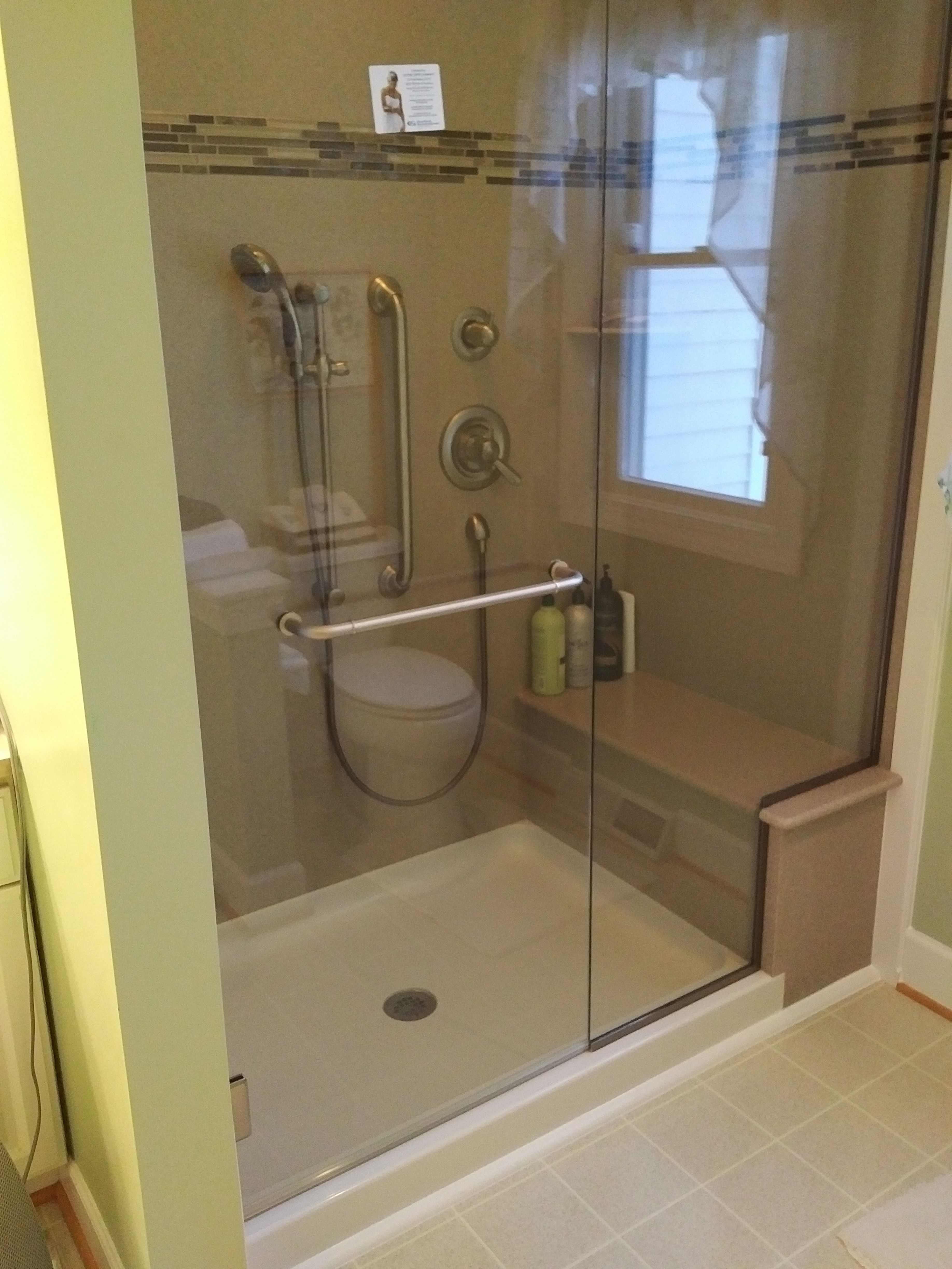 We converted this tub and shower to a shower with a bench. It ...