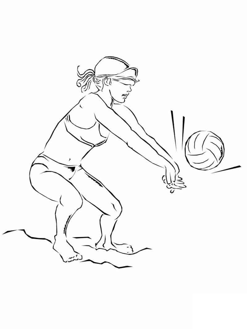 Volleyball Coloring Pages To Print Sports Coloring Pages Coloring Pages Nature Coloring Pages To Print