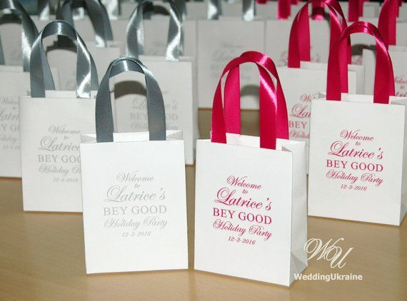 Holiday Party Elegant Gift Bags For Guests Personalized Bag Welcome Favors With S