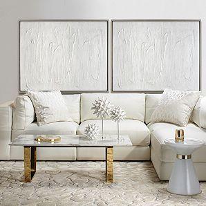 Stratus Armless Chair Modern White Living Room Living