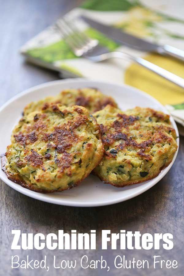 Baked Zucchini Fritters Recipe | Healthy Recipes #zucchinirecipes
