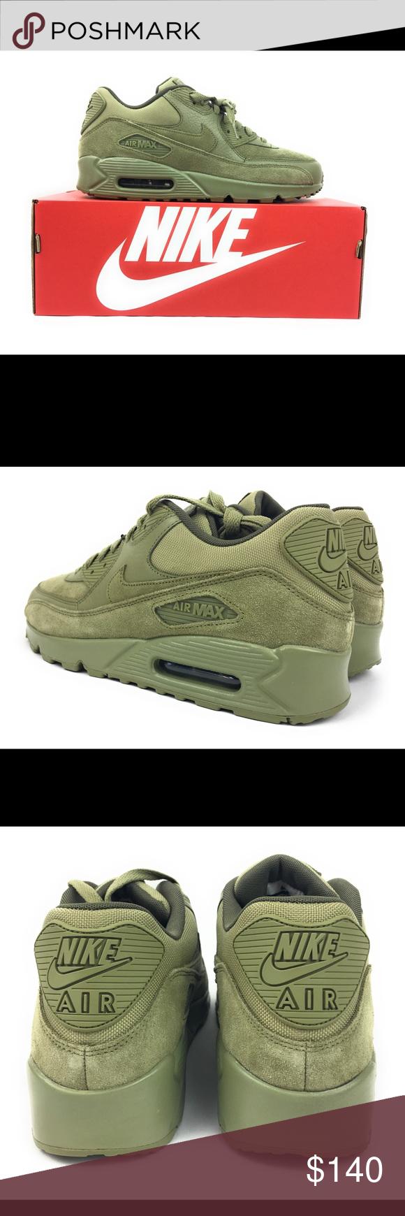 42 Herren Nike Air Max 90 Premium Neutral Olive 700155 im
