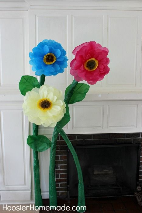 How To Make Giant Tissue Paper Flowers Instructions On