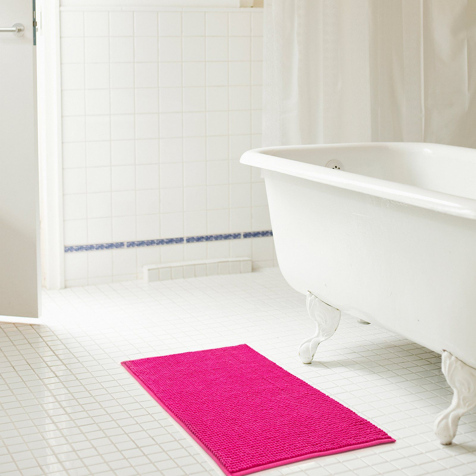 Microfibre Non Slip Medium Curved Shower Mat Curved Shower Mat