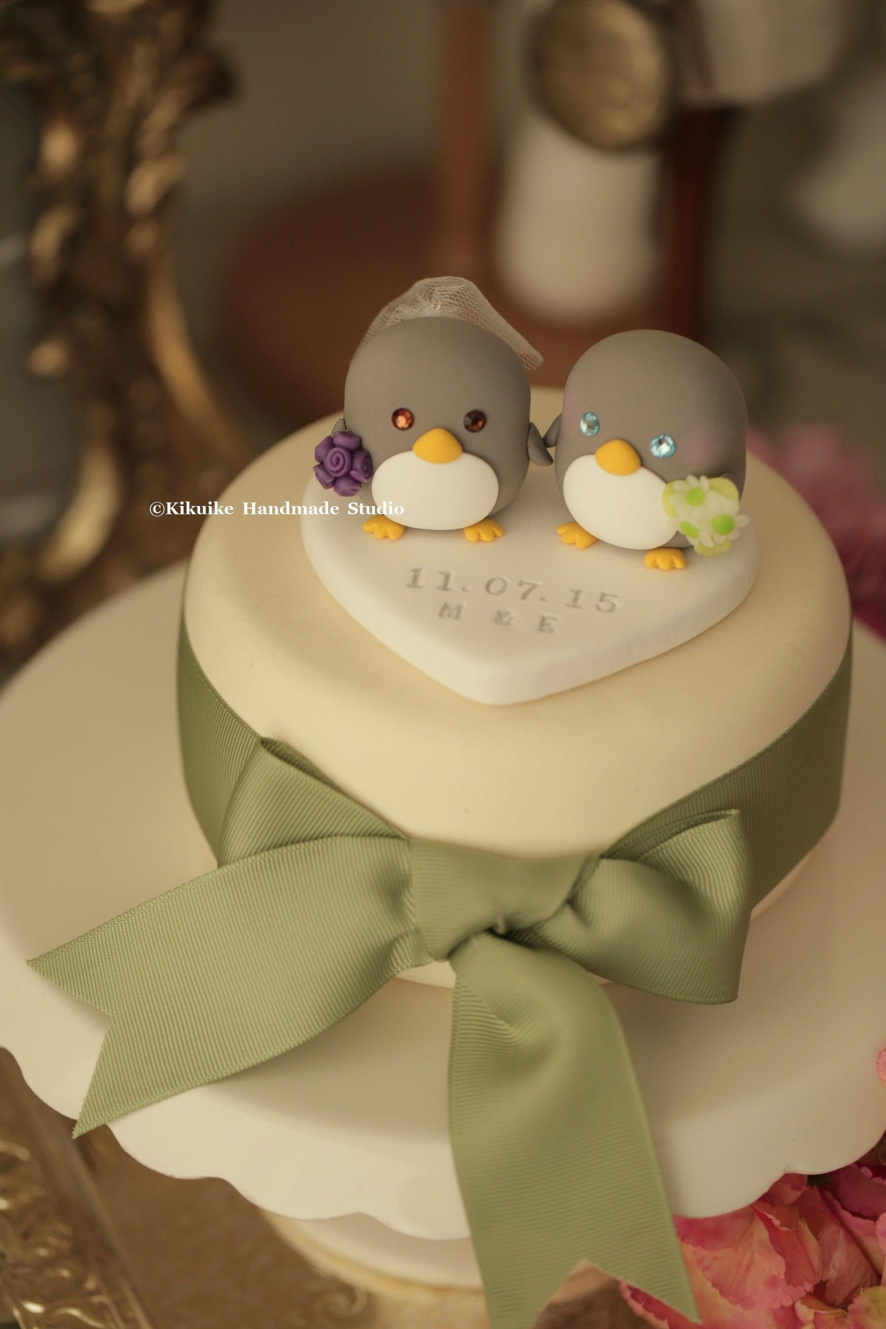 Penguins Wedding Cake Topper (K432) | Pinterest | Penguins, Wedding ...