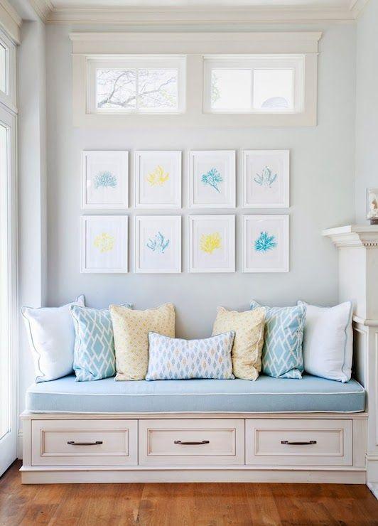 Erin Hendrick Living Rooms Clerestory Windows Storage Bench