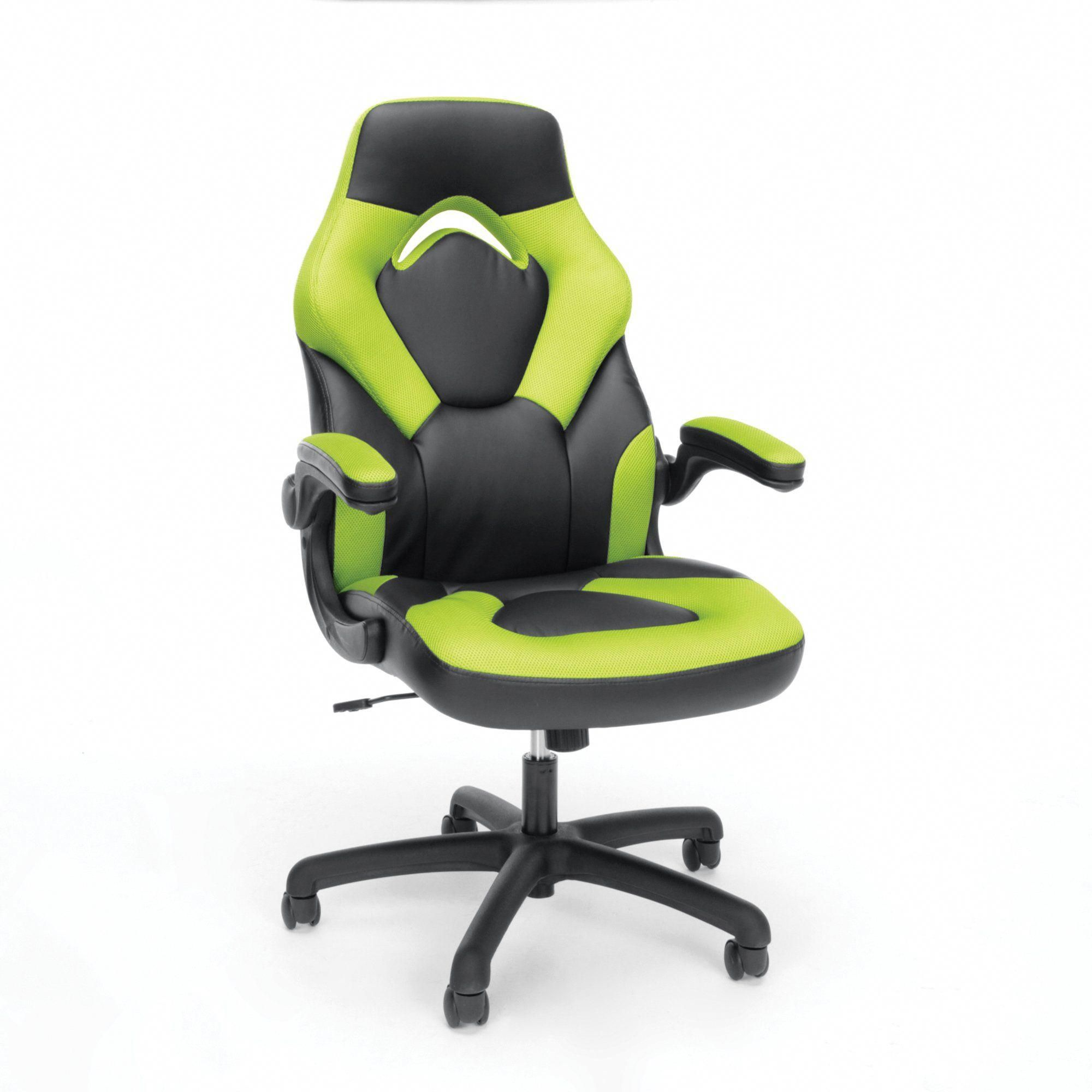 Green And Black Racing Style Leather Gaming Chair Essentials Gamingcomputerdeskstyle In 2020 Gaming Chair Racing Chair Office Gaming Chair