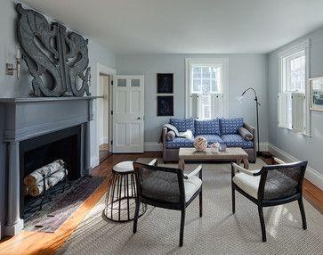 Nantucket Orange Street Transitional Living Room Chicago